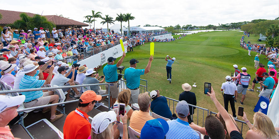 Crowd of patrons at Honda Classic