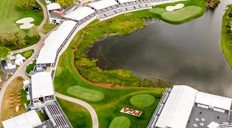 Patriots Outpost - 17th Tee Aerial