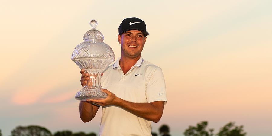 Honda Classic champion with trophy