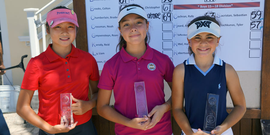 Junior Par 3 participants